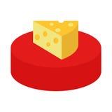 Queso y pedazo de queso Imagen de archivo libre de regalías
