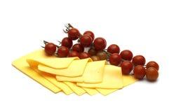 Queso y tomate Foto de archivo