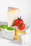 Queso y tomates Foto de archivo libre de regalías