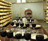 Quesos del zaschnyh del vino Fotografía de archivo