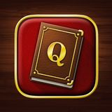 Quest book stock image