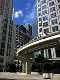 Ritratto del centro di Miami Fotografie Stock Libere da Diritti