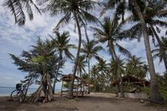 Capanna tropicale, un altro lato dell'isola Immagine Stock