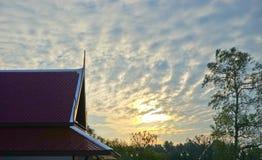 Questa immagine è circa bello paesaggio lowlight, Tailandia Immagine Stock Libera da Diritti