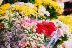 Questa immagine è circa il fiore nel mercato, Tailandia Immagini Stock Libere da Diritti
