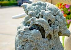 Questa immagine è circa il leone di pietra, Tailandia Fotografie Stock