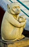 Questa immagine è circa il mongkey di pietra, Tailandia Fotografia Stock