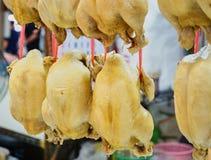 Questa immagine è circa il pollo bollito nel mercato, Tailandia Fotografia Stock Libera da Diritti