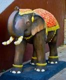 Questa immagine è circa l'elefante di pietra, Tailandia Immagini Stock Libere da Diritti