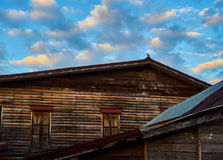 Questa immagine è circa la vecchia casa, Tailandia Fotografie Stock