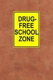 Questa scuola è senza droga Fotografie Stock Libere da Diritti