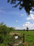 Questa vista del cielo sulla mia casa Fotografia Stock