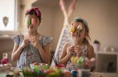 Queste sono le nostre uova di Pasqua fotografia stock