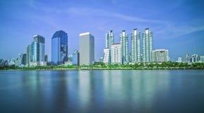 Questi città e lago Fotografie Stock