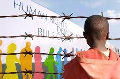 Questi sono i vostri diritti umani? Fotografia Stock Libera da Diritti