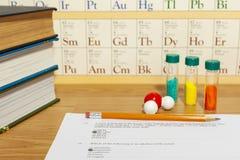 Questionário da química imagens de stock royalty free