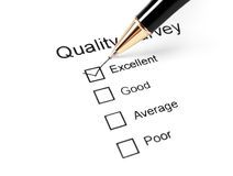 Questionário do exame da qualidade fotos de stock