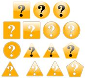 The question. Set of question mark, created with inkscape stock illustration
