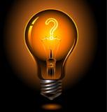 Question. Vector illustration of lightbulb , question concept royalty free illustration
