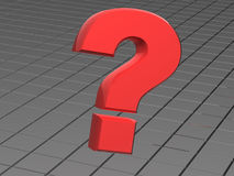 Question. One question. 3d isolated object Royalty Free Stock Photo