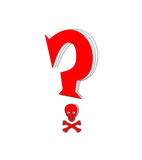 Question. Mark on a white background Royalty Free Stock Images