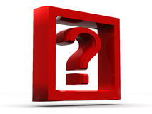 Question. 3d Royalty Free Stock Image
