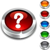 Question 3d button. Question 3d button set. Vector illustration Royalty Free Stock Photography