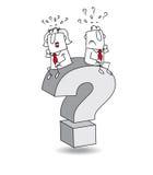 Question illustration stock