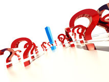 Question. The decision of problems, confusion, surprise Royalty Free Stock Image