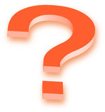 Question. Mark in  white color  background Royalty Free Stock Photo