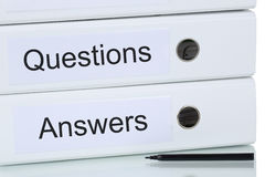 Question And Answer Business Concept Royalty Free Stock Photography