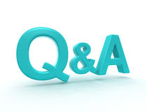 Question and answer Stock Photography