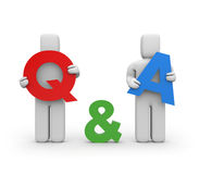 Question and answer Royalty Free Stock Photography