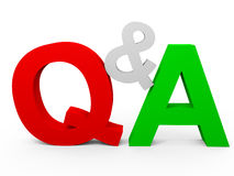 Question and Answer Stock Images