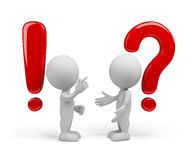 Question - the answer Royalty Free Stock Photography