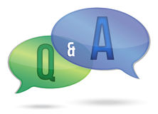 Question and answer Royalty Free Stock Photos