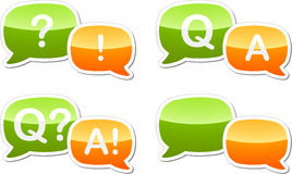 Question answer dialog speech illustration Royalty Free Stock Photography