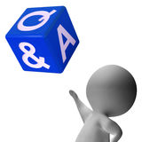 Question Answer Dice Showing Help And Assistance Royalty Free Stock Photos