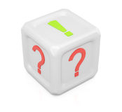 Question and answer dice Royalty Free Stock Photos