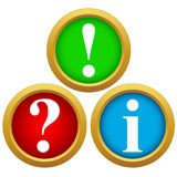 Question and answer icons Stock Images