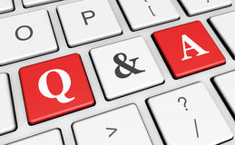 Question And Answer Keyboard Concept Stock Image