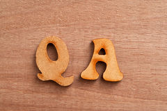 Question and answer letters. Stock Photography