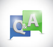 Question and answer message bubble illustration Royalty Free Stock Photo
