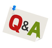 Question answer pushpin Stock Images