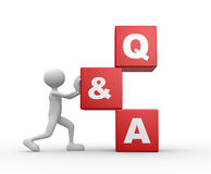 Question and answer - Q&A Royalty Free Stock Photography