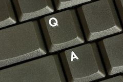 Question / Answer. The Q and A of a keyboard, representing Question and Answer Royalty Free Stock Photography