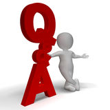 Question and Answer Q&A Sign And 3d Character Is Symbol For Supp Stock Images