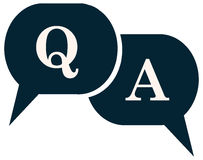 Question and Answer Q A Speech Balloon Icon. Royalty Free Stock Images