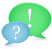 Question & Answer Signs Royalty Free Stock Photography