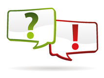 Question answer signs Royalty Free Stock Photography